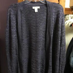 Darn Purple Knit Cardigan